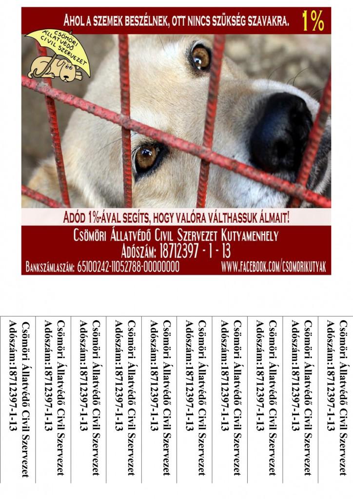 2017 1százalék letéphető Csömöri Állatvédők