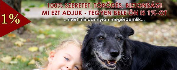 1% = 100% Szeretet, Törődés, Biztonság!